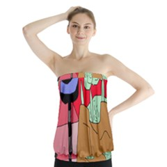 Imaginative Abstraction Strapless Top