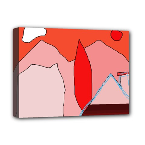 Red landscape Deluxe Canvas 16  x 12