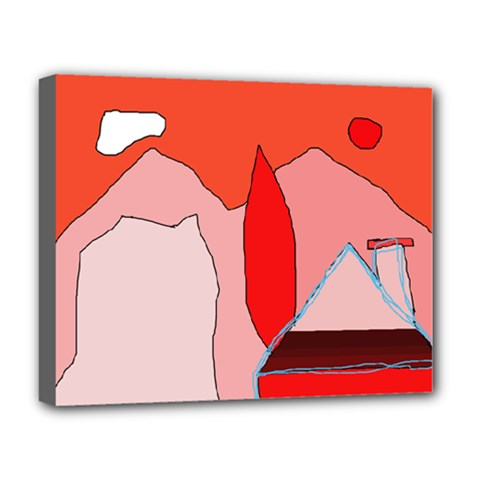 Red landscape Deluxe Canvas 20  x 16