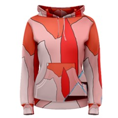 Red landscape Women s Pullover Hoodie