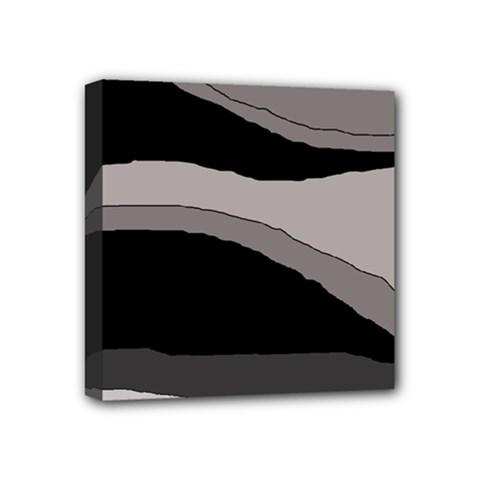 Black and gray design Mini Canvas 4  x 4
