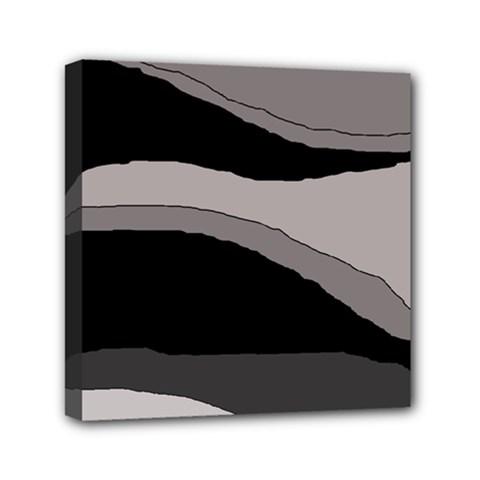 Black and gray design Mini Canvas 6  x 6