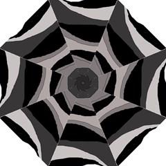 Black and gray design Hook Handle Umbrellas (Medium)