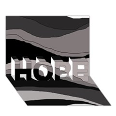 Black and gray design HOPE 3D Greeting Card (7x5)