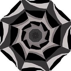 Black and gray design Hook Handle Umbrellas (Small)