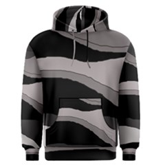Black and gray design Men s Pullover Hoodie