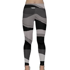 Black and gray design Yoga Leggings