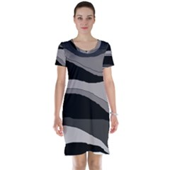 Black and gray design Short Sleeve Nightdress