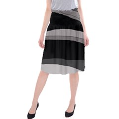 Black And Gray Design Midi Beach Skirt