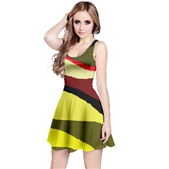 Decorative abstract design Reversible Sleeveless Dress