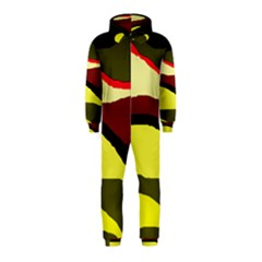 Decorative abstract design Hooded Jumpsuit (Kids)
