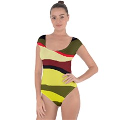 Decorative abstract design Short Sleeve Leotard
