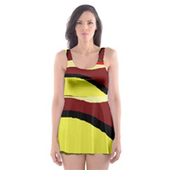 Decorative abstract design Skater Dress Swimsuit