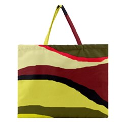 Decorative abstract design Zipper Large Tote Bag