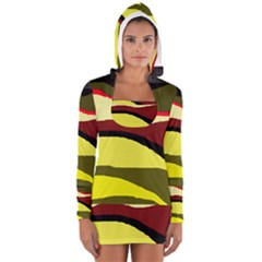 Decorative abstract design Women s Long Sleeve Hooded T-shirt