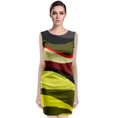 Decorative abstract design Classic Sleeveless Midi Dress