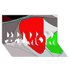 Colorful abstraction #1 MOM 3D Greeting Cards (8x4)