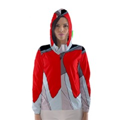 Colorful abstraction Hooded Wind Breaker (Women)