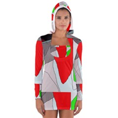 Colorful Abstraction Women s Long Sleeve Hooded T Shirt