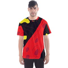 Red abstraction Men s Sport Mesh Tee