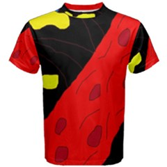 Red abstraction Men s Cotton Tee