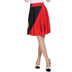 Red abstraction A-Line Skirt