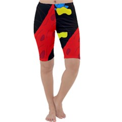 Red abstraction Cropped Leggings