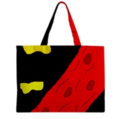 Red abstraction Zipper Mini Tote Bag