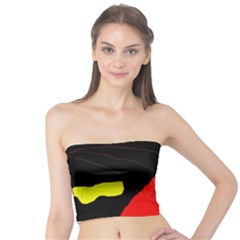 Red abstraction Tube Top