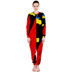 Red abstraction OnePiece Jumpsuit (Ladies)