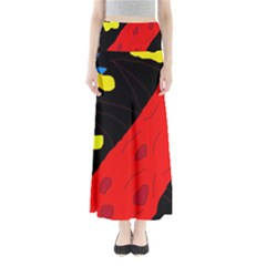 Red abstraction Maxi Skirts