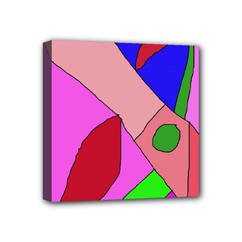 Pink abstraction Mini Canvas 4  x 4