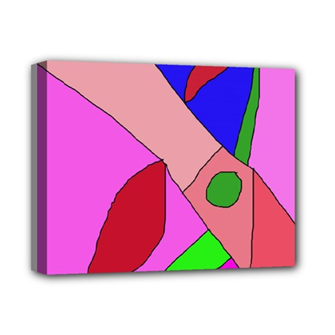 Pink abstraction Deluxe Canvas 14  x 11