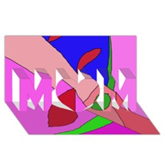 Pink abstraction MOM 3D Greeting Card (8x4)