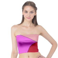 Pink abstraction Tube Top