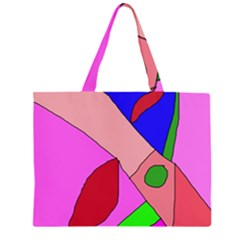 Pink abstraction Large Tote Bag