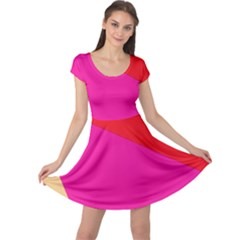 Colorful abstraction Cap Sleeve Dresses
