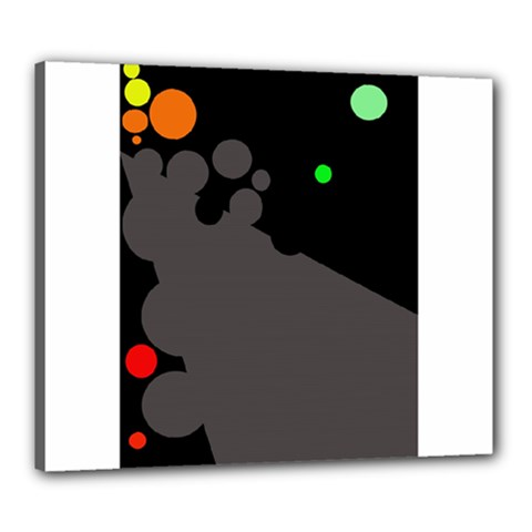 Colorful dots Canvas 24  x 20