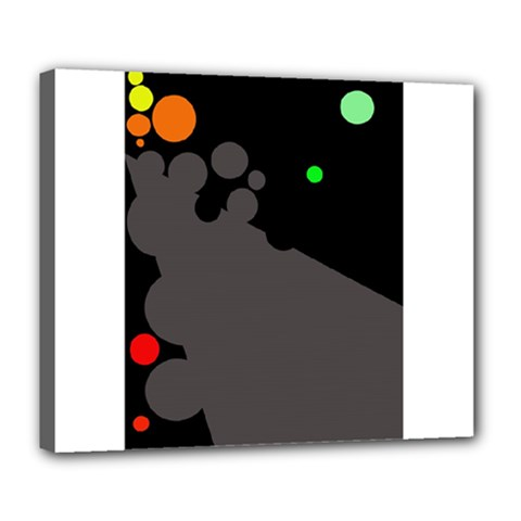 Colorful dots Deluxe Canvas 24  x 20