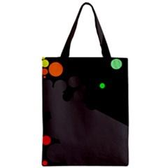 Colorful dots Zipper Classic Tote Bag