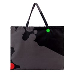 Colorful dots Zipper Large Tote Bag