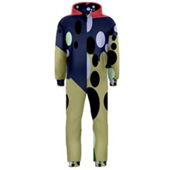Elegant dots Hooded Jumpsuit (Men)
