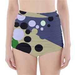 Elegant Dots High Waisted Bikini Bottoms