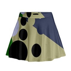 Elegant dots Mini Flare Skirt