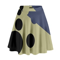 Elegant dots High Waist Skirt