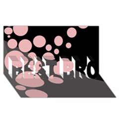 Pink dots BEST BRO 3D Greeting Card (8x4)