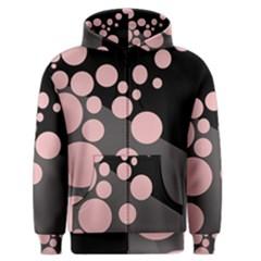 Pink dots Men s Zipper Hoodie