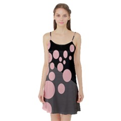 Pink dots Satin Night Slip
