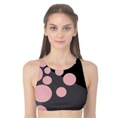 Pink dots Tank Bikini Top