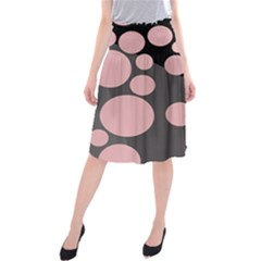 Pink Dots Midi Beach Skirt